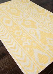 Addison And Banks Flat Weave Abr0455 White / Butter Area Rug