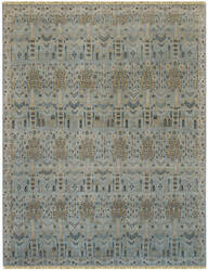 Amer Nuit Arabe Qa-6 Ice Blue Area Rug