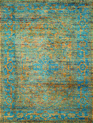 Amer Silkshine Sf-19 Gold-Blue Area Rug