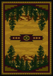 American Dakota National Park Autumn Point Brown Area Rug