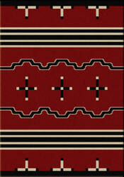 American Dakota Voices Big Chief Red Area Rug