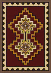 American Dakota Voices Council Fire Red Area Rug