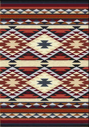American Dakota Voices Diamond Rio Rust Area Rug