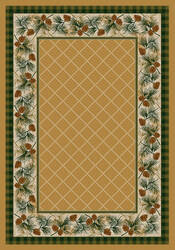 American Dakota National Park Evergreen Yellow Area Rug