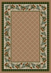 American Dakota National Park Evergreen Brown Area Rug