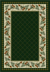 American Dakota National Park Evergreen Green Area Rug