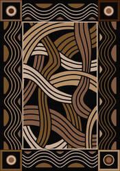 American Dakota New Echota Hand Coiled Black Area Rug