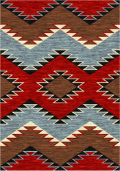 American Dakota Trader Rugs Heritage Brown Area Rug