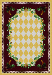 American Dakota Novelty High Country Rooster Yellow Area Rug