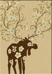 American Dakota National Park Moose Blossom Natural Area Rug