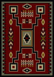 American Dakota Voices Old Crow Red Area Rug