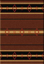 American Dakota Camp Old Timer Brown Area Rug