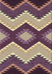 American Dakota Trader Rugs Plum Heritage Purple Area Rug