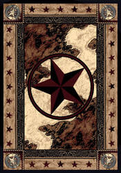 American Dakota Great Stateof Mind Ranger Hideout Brown Area Rug