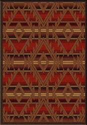 American Dakota Voices Spirit Of Santa Fe Red Area Rug