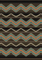 American Dakota Camp Trapper Brown Area Rug