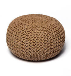 Anji Mountain Jute Pouf 142056 Tan