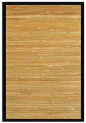Anji Mountain Bamboo Contemporary Natural Black Border Area Rug