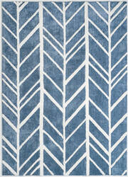 Anji Mountain Alder 142041 Blue - Ivory Area Rug