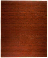 Anji Mountain Bamboo Chair Mat Deluxe No Lip Dark Cherry Area Rug