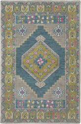 Surya Arabia Ayda Gray - Teal Area Rug