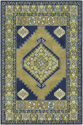 Surya Arabia Ayda Lime Green - Navy Blue Area Rug