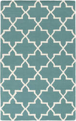 Surya Pollack Keely Teal/White Area Rug