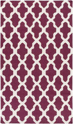 Surya York Olivia Purple/White Area Rug