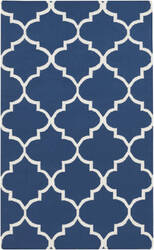 Surya York Mallory Blue/White Area Rug