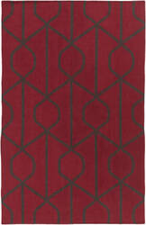 Surya York Ellie Red - Gray Area Rug