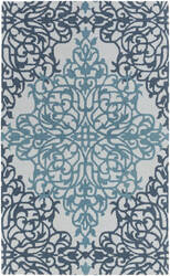 Surya Hermitage Faith Teal - Light Blue Area Rug