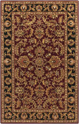 Surya Middleton Virginia Maroon/Black Area Rug