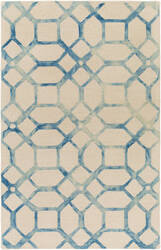 Surya Organic Brittany Teal - Ivory Area Rug