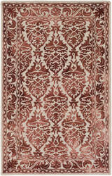 Surya Organic Evelyn Burgundy - Off-White Area Rug