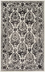 Surya Organic Evelyn Charcoal - Off-White Area Rug