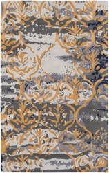 Surya Pacific Holly Charcoal Grey - Gold Area Rug