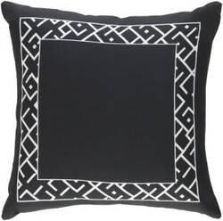 Surya Ethiopia Pillow Rwanda Etpa7224 Onyx Black