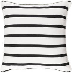 Surya Glyph Pillow Mini Stripe White - Black