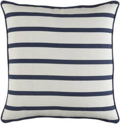 Surya Glyph Pillow Mini Stripe White - Navy