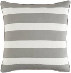 Surya Glyph Pillow Stripe Gray - White