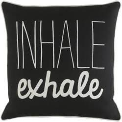 Surya Glyph Pillow Inhale/Exhale Black - White