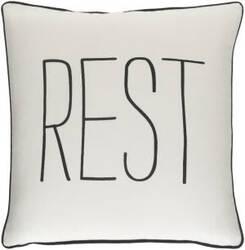 Surya Glyph Pillow Rest White - Black