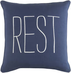 Surya Glyph Pillow Rest Navy - White