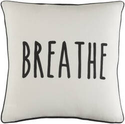 Surya Glyph Pillow Breathe White - Black