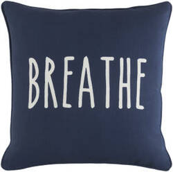 Surya Glyph Pillow Breathe Navy - White