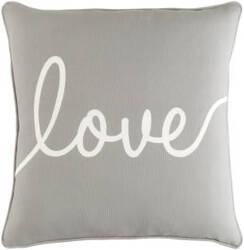 Surya Glyph Pillow Romantic Love Gray - White