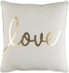 Surya Glyph Pillow Romantic Love White - Metallic Gold