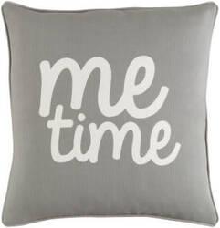 Surya Glyph Pillow Me Time Gray - White