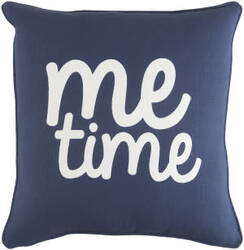 Surya Glyph Pillow Me Time Navy - White