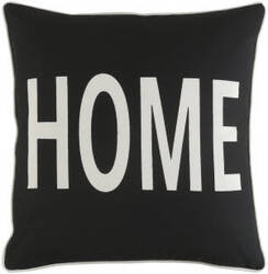 Surya Glyph Pillow Home Black - White